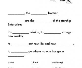 Movie Worksheet: Star Trek- The Next Generation (Opening Monologue)