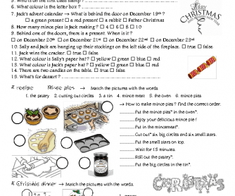 Movie Worksheet: Christmas in England