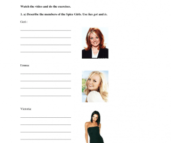 Song Worksheet: Mama by Spice Girls (Mother's Day)