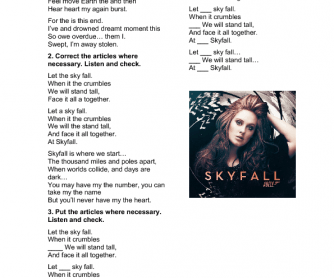 Song Worksheet: Skyfall