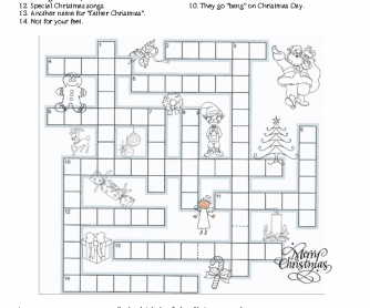 Christmas Crossword Puzzle