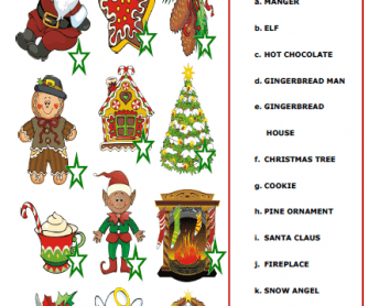 Christmas Elementary Worksheet