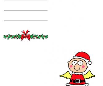 Christmas Greetings Card - Angel