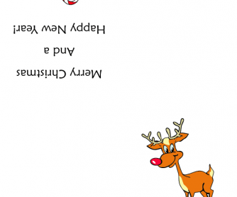 Christmas Greetings Card - Rudolph
