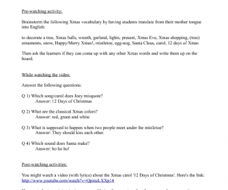 Movie Worksheet: Friends Season 2, Episode 8 'The One with Phoebe's Dad' (Christmas Party)