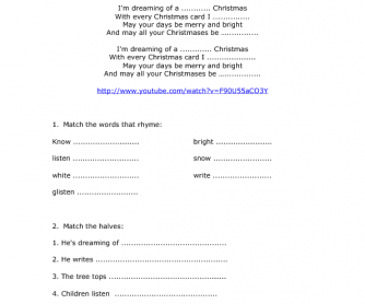 song worksheet white christmas - White Christmas Song