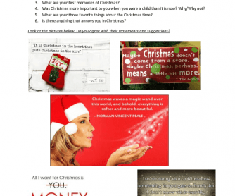 Christmas Lesson For Adult Students - Intermediate