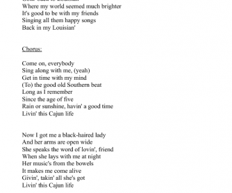 Song Worksheet: Cajun Life by Jo-El Sonnier (1)
