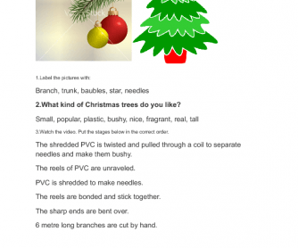 Movie Worksheet: Christmas Tree