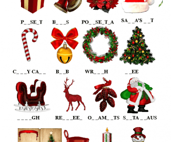Christmas Missing Letters Activity