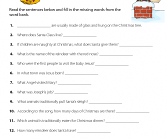 Christmas Quiz Printable