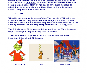 Movie Worksheet: How the Grinch Stole Christmas