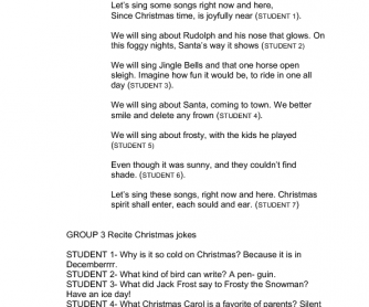 Large Class Christmas Worksheet