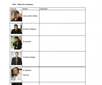 Movie Worksheet: NCIS - Become a Detective