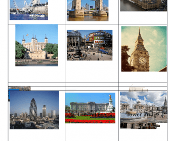 London Sights Cards