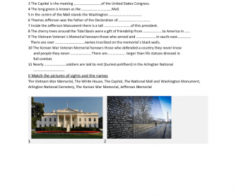 Movie Worksheet: Washington D. C. Sights