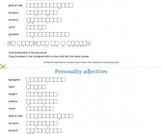 Personality Adjectives (Vocabulary)