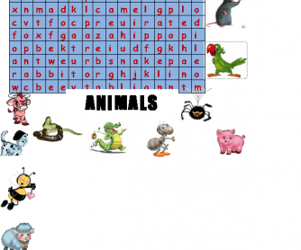 Animals (Wordsearch)