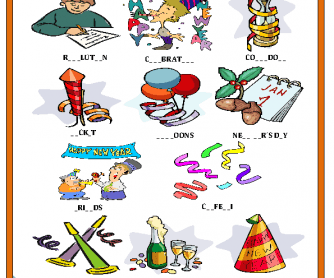 New Year Missing Letters activity