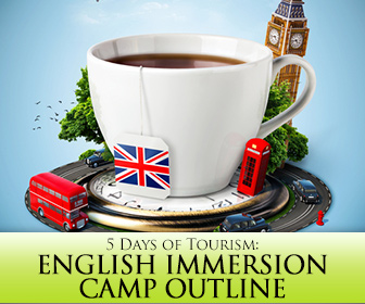 English Immersion Camp Outline: 5 Days of Tourism
