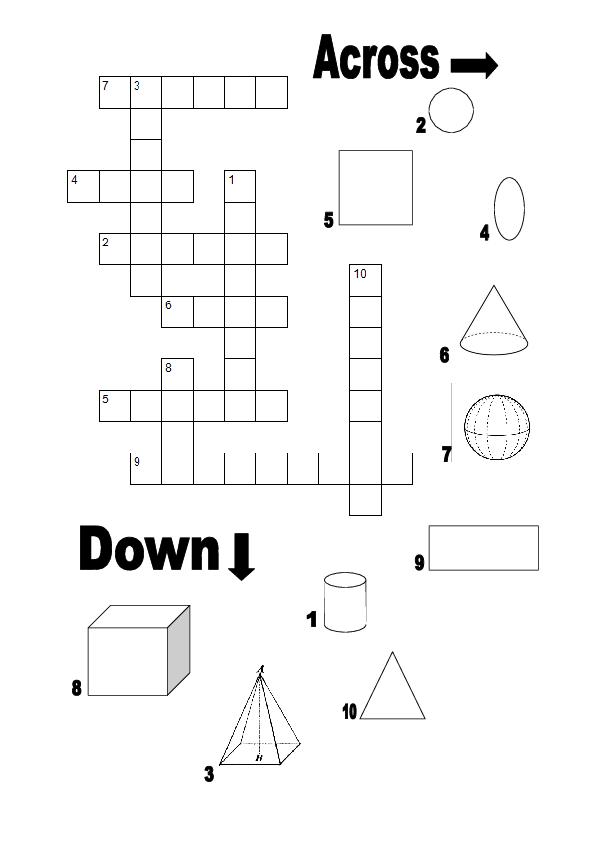 Geometric Notions Crossword Puzzle