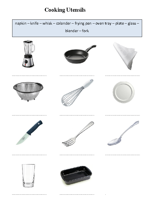 Simple Kitchen Machines Worksheet 82 free cooking worksheets