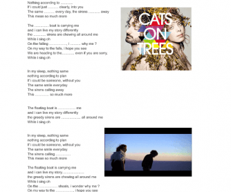 Song Worksheet: Syrens Call by Cats on Trees