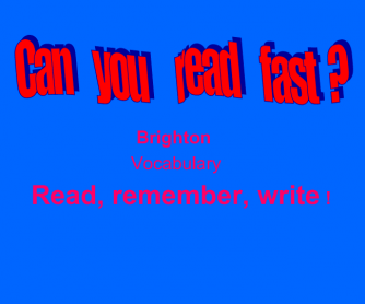 Can You Read Fast?