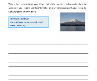 Research Topic - Mount Fuji