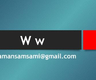 Letter W PowerPoint