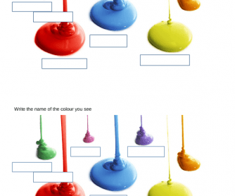 Colours: Test for Complete Beginners