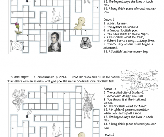 Burns Night Crossword Puzzle