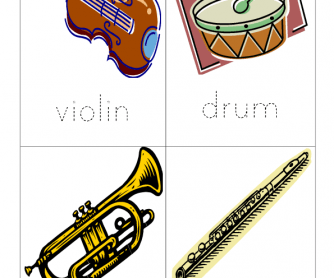 Musical Instruments (Word Tracer)