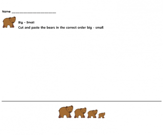 Brown Bear Family (Biggest - Smallest)