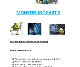 Movie Worksheet:Monsters Inc 2
