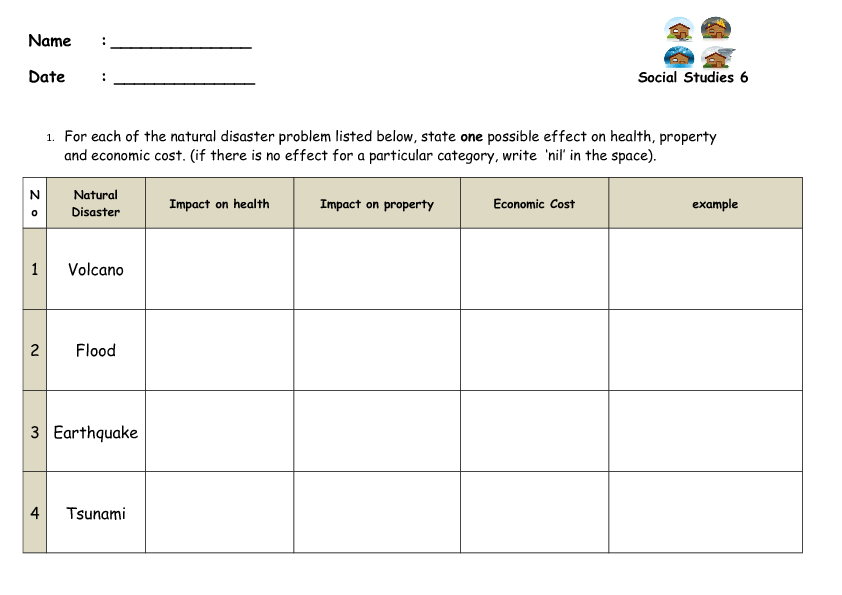 Free Natural Disaster Lesson Plans Grade