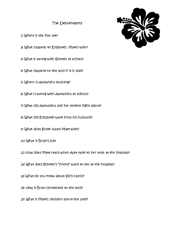 Worksheet The Descendants – Peer Pressure Worksheets