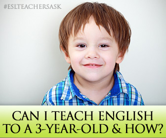ESL Teachers Ask: Can I Teach English to a 3-year-old and How?