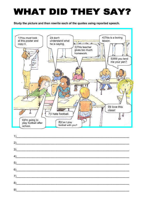Direct/ Indirect Speech