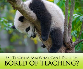 ESL Teachers Ask: What Can I Do if I'm Bored of Teaching?