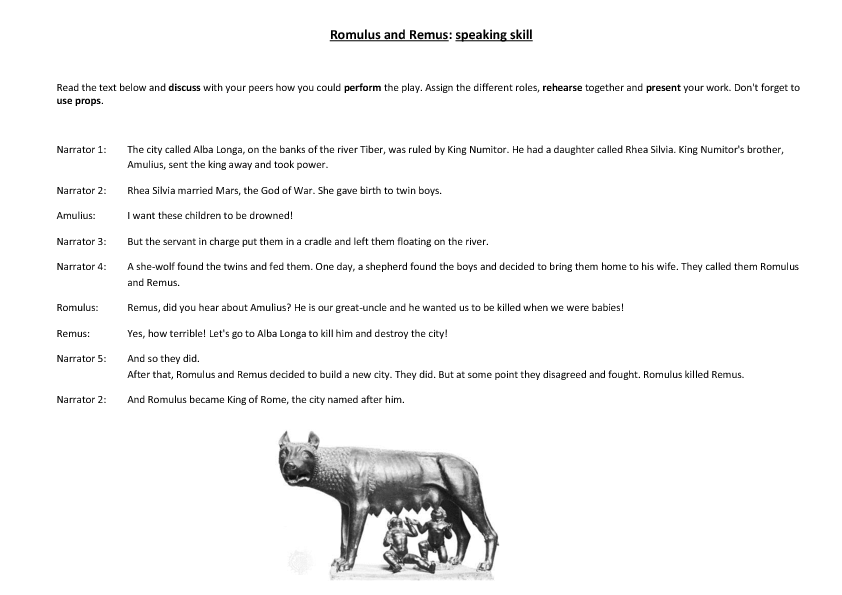 Romulus and Remus - Subject and Object Pronouns