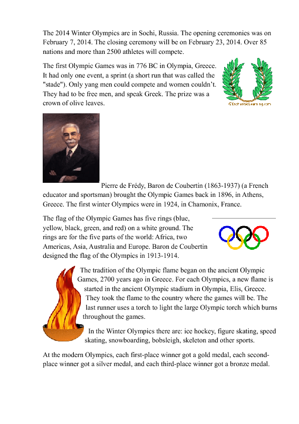 an introduction to the history of olympic games The history of olympic diving essay - anything related to the olympics sports in today's modern era dates clear back to 776 bc however, some sports that are in the twenty-first-century olympic games have only just started.