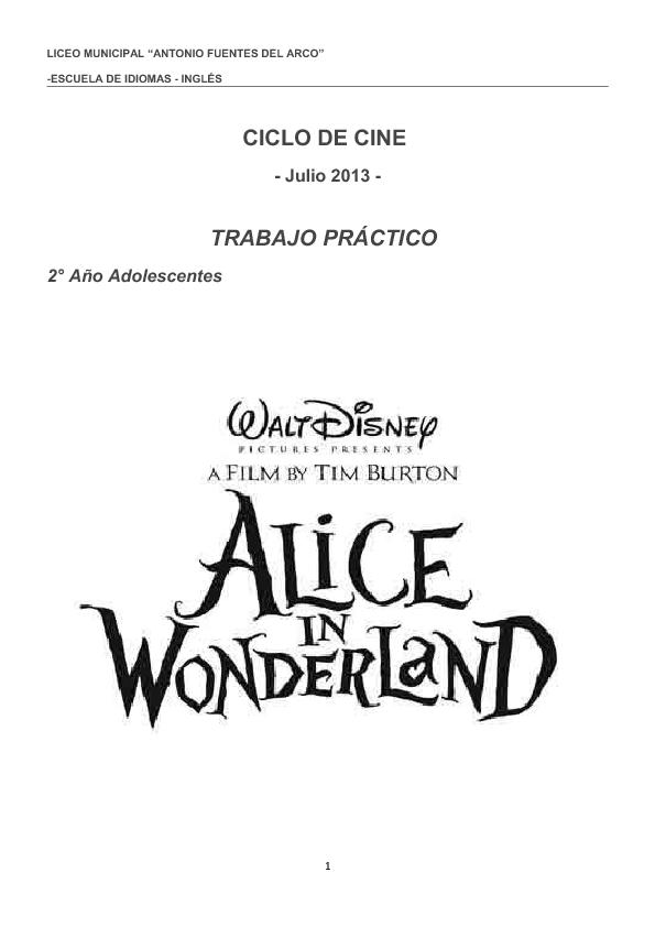 Alice in Wonderland Reading Comprehension Set