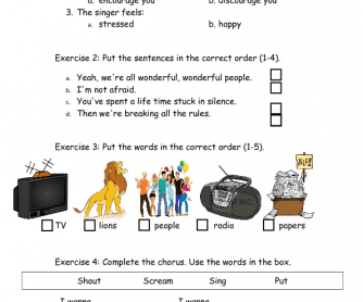 Song Worksheet: Read All About It by Emeli Sande