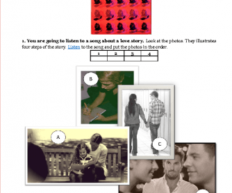 Song Worksheet: Roses Are Red (My Love) by Bobby Vinton