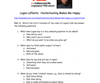 Movie Worksheet: Hackschooling Makes Me Happy