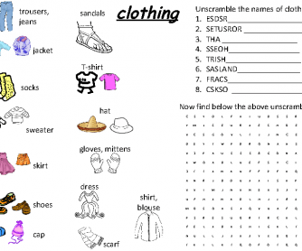 Clothes Basic Latinamerica Beginners
