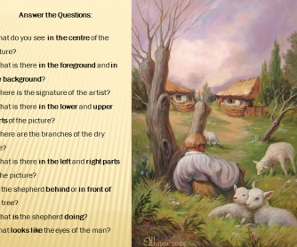 Describing Pictures (Based on Optical Illusions)