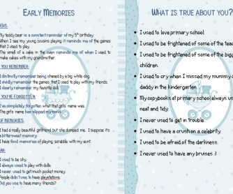 Early Memories (Phrases and Discussion Statements)