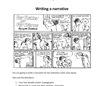Valentine's Day - Writing a Narrative